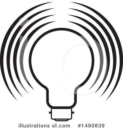 Light Bulb Clipart #1490839 by Lal Perera