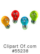 Light Bulb Head Character Clipart #55238 by Julos