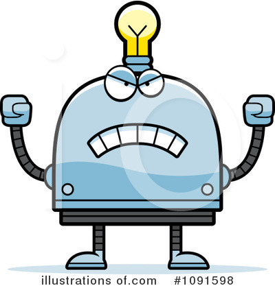 Royalty-Free (RF) Light Bulb Robot Clipart Illustration by Cory Thoman - Stock Sample #1091598