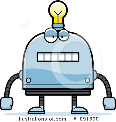 Light Bulb Robot Clipart #1091600 by Cory Thoman