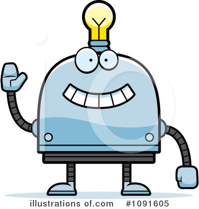 Light Bulb Robot Clipart #1091605 by Cory Thoman