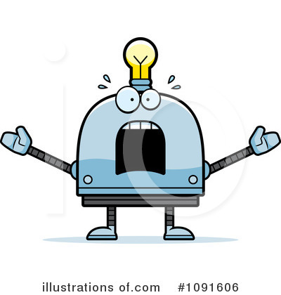 Light Bulb Robot Clipart #1091606 by Cory Thoman