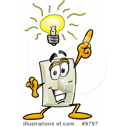 Royalty-Free (RF) Light Switch Clipart Illustration by Toons4Biz - Stock Sample #9797