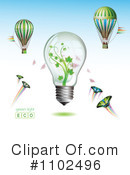 Royalty-Free (RF) lightbulb Clipart Illustration #1102496