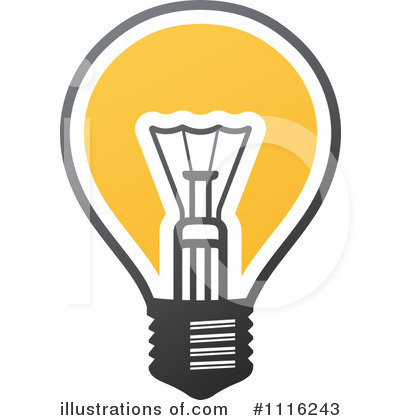 Lightbulb Clipart #1116243 by elena