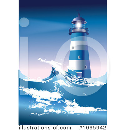 Lighthouse Clipart #1065942 by Eugene