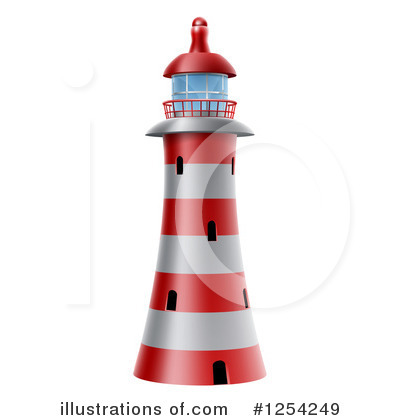 Lighthouse Clipart #1254249 by AtStockIllustration