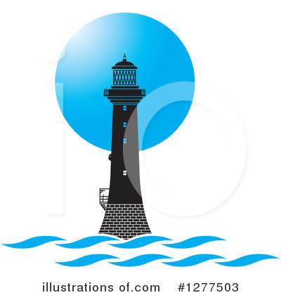 Lighthouse Clipart #1277503 by Lal Perera