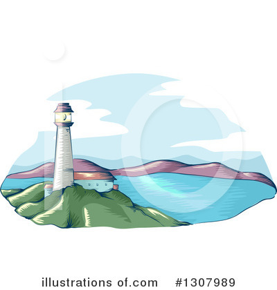 Lighthouse Clipart #1307989 by BNP Design Studio