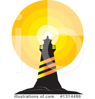 Lighthouse Clipart #1314486 by Lal Perera