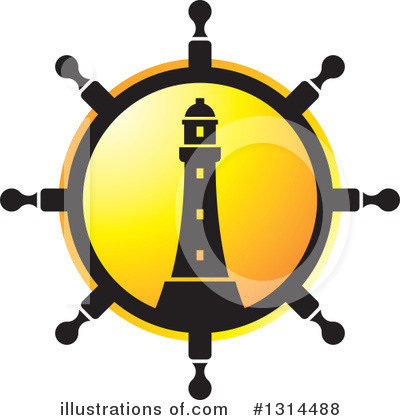 Lighthouse Clipart #1314488 by Lal Perera