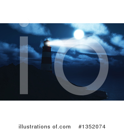 Lighthouse Clipart #1352074 by KJ Pargeter