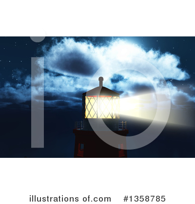 Royalty-Free (RF) Lighthouse Clipart Illustration by KJ Pargeter - Stock Sample #1358785