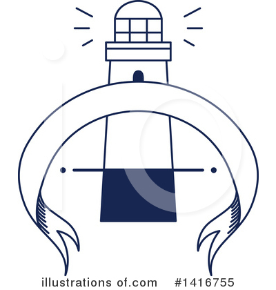 Lighthouse Clipart #1416755 by Vector Tradition SM
