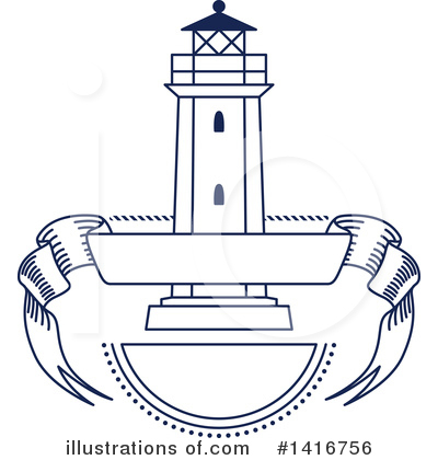 Lighthouse Clipart #1416756 by Vector Tradition SM