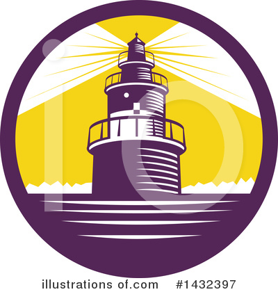 Royalty-Free (RF) Lighthouse Clipart Illustration by patrimonio - Stock Sample #1432397