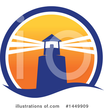 Lighthouse Clipart #1449909 by Vector Tradition SM