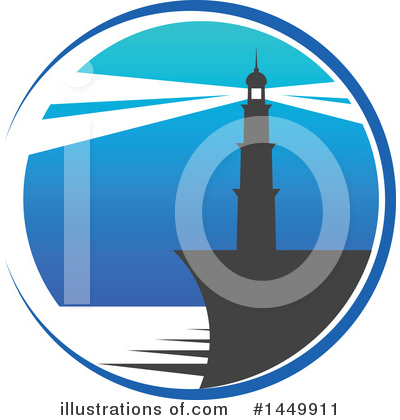 Lighthouse Clipart #1449911 by Vector Tradition SM
