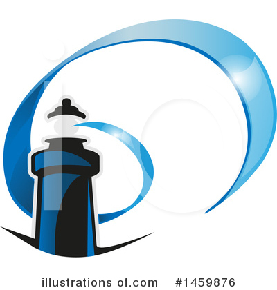 Lighthouse Clipart #1459876 by Domenico Condello