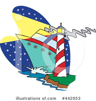 Lighthouse Clipart #442053 by toonaday