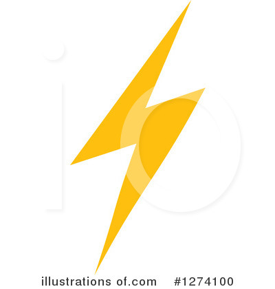 Lightning Clipart #1274100 by Vector Tradition SM