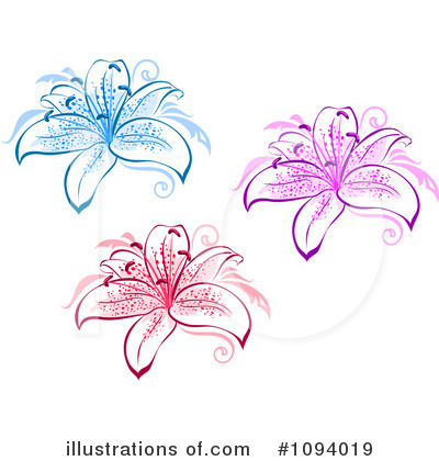 Lily Clipart #1094019 by Vector Tradition SM