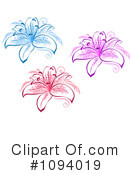 Lilies Clipart #1094019 by Vector Tradition SM