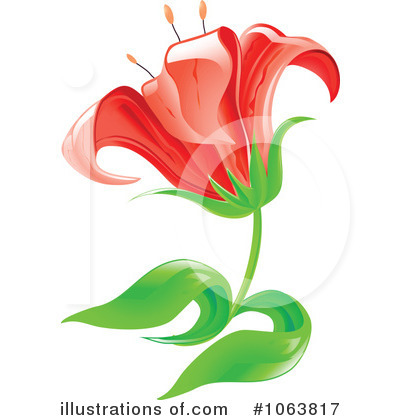 Lilies Clipart #1063817 by Vector Tradition SM