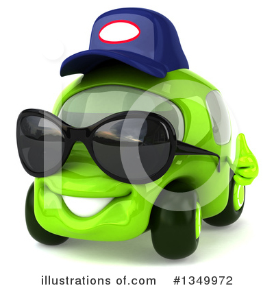 Royalty-Free (RF) Lime Green Car Clipart Illustration by Julos - Stock Sample #1349972