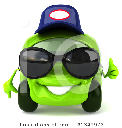 Lime Green Car Clipart #1349973 by Julos