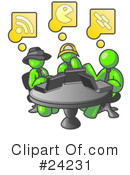 Lime Green Collection Clipart #24231