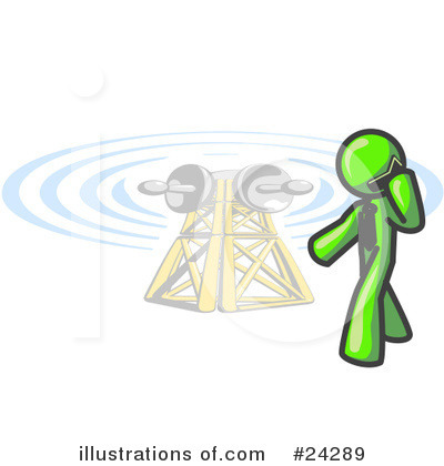 Communications Tower Clipart #24289 by Leo Blanchette