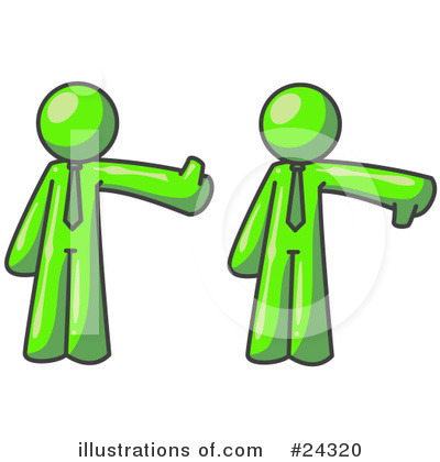 Royalty-Free (RF) Lime Green Collection Clipart Illustration by Leo Blanchette - Stock Sample #24320