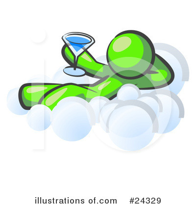 Royalty-Free (RF) Lime Green Collection Clipart Illustration by Leo Blanchette - Stock Sample #24329