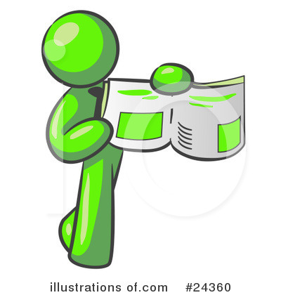 Lime Green Collection Clipart #24360 by Leo Blanchette