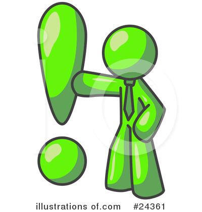 Lime Green Man Clipart #24361 by Leo Blanchette