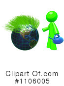 Royalty-Free (RF) Lime Green Man Clipart Illustration #1106005