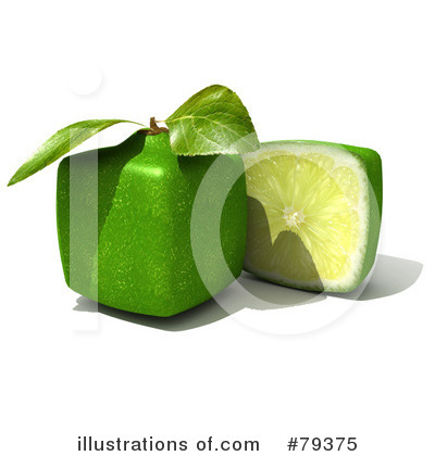 Royalty-Free (RF) Limes Clipart Illustration by Frank Boston - Stock Sample #79375