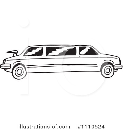 1110524 Royalty Free Limo Clipart Illustration
