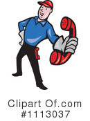 Royalty-Free (RF) Lineman Clipart Illustration #1113037