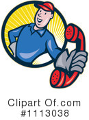 Royalty-Free (RF) Lineman Clipart Illustration #1113038