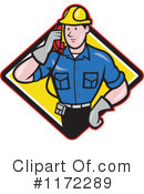 Royalty-Free (RF) Lineman Clipart Illustration #1172289