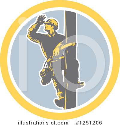 Electrician Clipart #1251206 by patrimonio