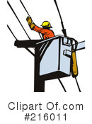 Lineman Clipart #216011 by patrimonio