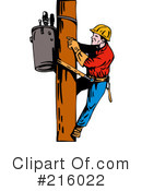Lineman Clipart #216022 by patrimonio