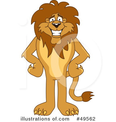 Royalty-Free (RF) Lion Character Clipart Illustration by Toons4Biz - Stock Sample #49562