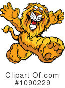 Royalty-Free (RF) Lion Clipart Illustration #1090229