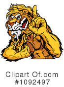 Royalty-Free (RF) Lion Clipart Illustration #1092497