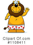 Royalty-Free (RF) Lion Clipart Illustration #1108411