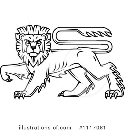 Heraldic Lion Clipart #1117081 by Vector Tradition SM